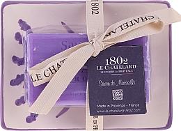 Духи, Парфюмерия, косметика Натуральное мыло с керамической мыльницей - Le Chatelard Lavande Soap