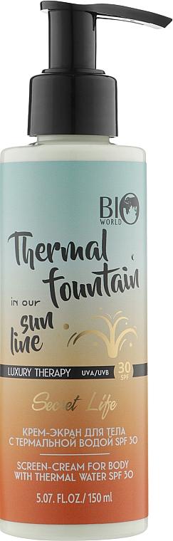 Крем-экран для тела с термальной водой SPF 30 - Boi World Secret Life Luxury Therapy Screen-Cream For Body With Thermal Water SPF 30