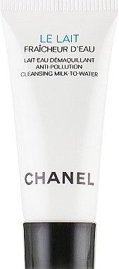 Аква-молочко для снятия макияжа с защитой от загрязнений окружающей среды - Chanel Le Lait Fraicheur D'eau (пробник) — фото N2