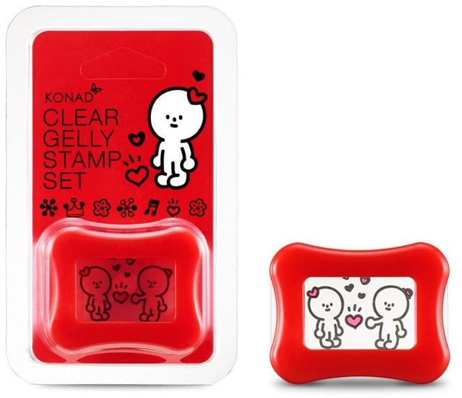 Штамп для стемпинга прозрачный, красный - Konad Clear Jelly Stamp