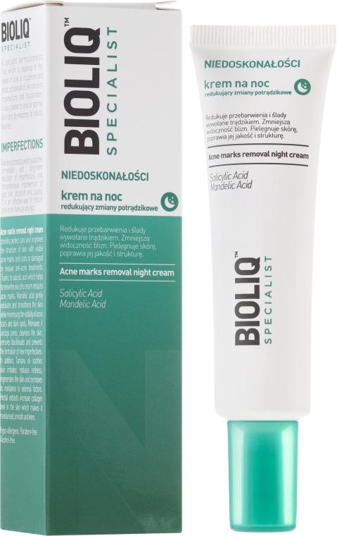 Ночной крем уменьшающий изменения после угревой сыпи - Bioliq Specialist Acne Marks Removal Night Cream