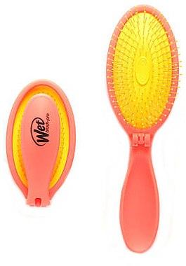 Компактная расческа - Wet Brush Neon Pop Fold Coral Chic