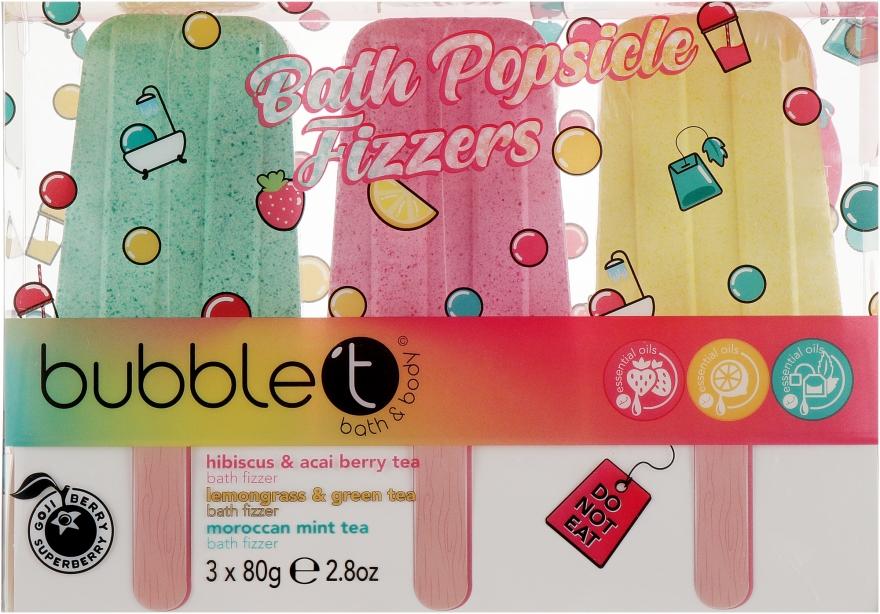Набор бомбочек для ванны - Bubble T Bath Popsicle Fizzers (bath/bomb/3x80g)