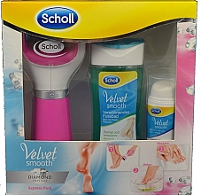 Духи, Парфюмерия, косметика Набор - Scholl Velvet Smooth Diamond Set (foot/bath/150ml+foot/serum/30ml+roller/1pcs)