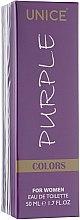 Духи, Парфюмерия, косметика Unice Colors Purple - Туалетная вода