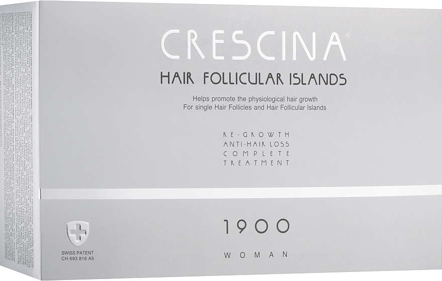 Комплекс для лечения выпадения волос для женщин 1900 - Crescina Hair Follicular Island Re-Growth Anti-Hair Loss Complete Treatment 1900 Woman