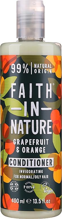 """Кондиционер для нормальных и жирных волос """"Грейпфрут и апельсин"""" - Faith In Nature Grapefruit & Orange Conditioner"""