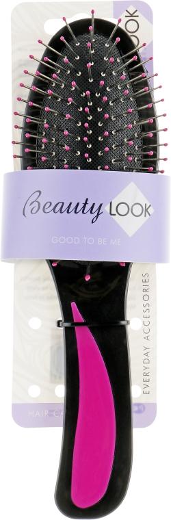 Гребінець для волосся масажний, 499719, фіолетовий - Beauty Look — фото N1