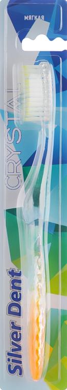 Зубная щетка, мягкая, прозрачно-оранжевая - Modum Silver Dent Crystal