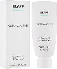 Духи, Парфюмерия, косметика Базовая очищающая крем пенка - Klapp Clean & Active Cleansing Cream Foam