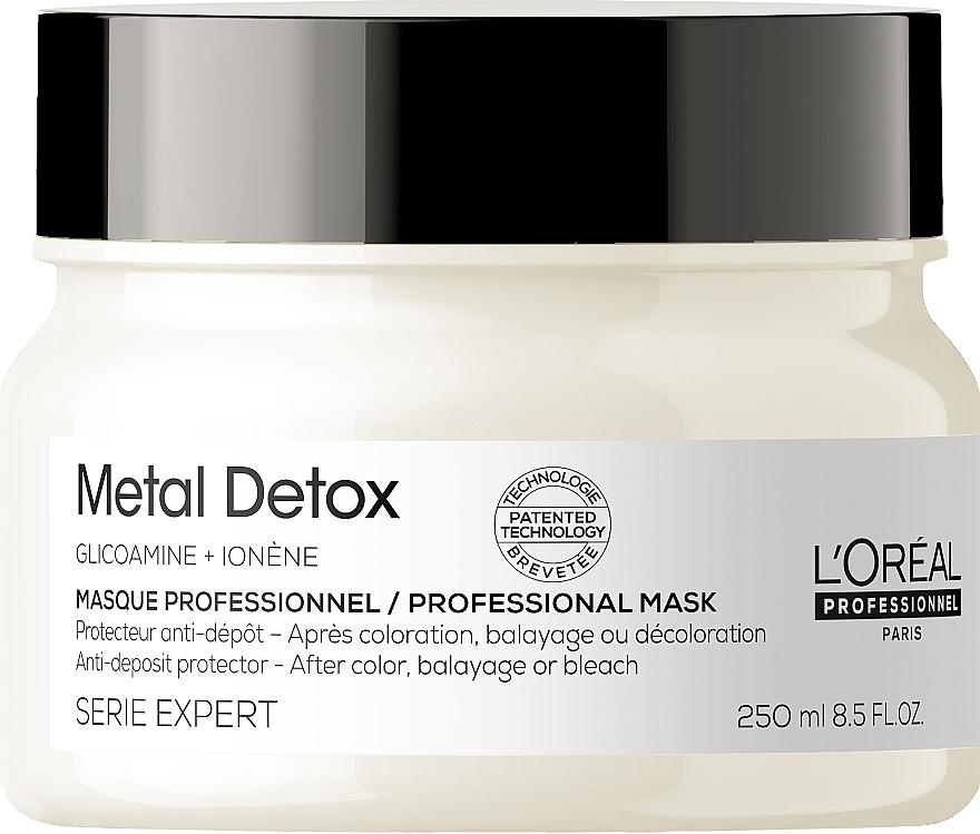 Профессиональная маска для предотвращения металлических накоплений в волосах после окрашивания или осветления - L'Oreal Professionnel Serie Expert Metal Detox Anti-deposit Protector Mask