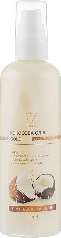 Кокосовое масло для тела c золотым шиммером - Elit-lab