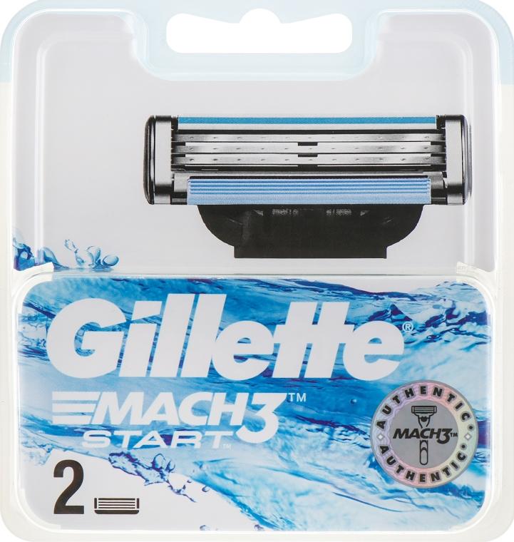 Сменные кассеты для бритья, 2шт - Gillette Mach3 Start