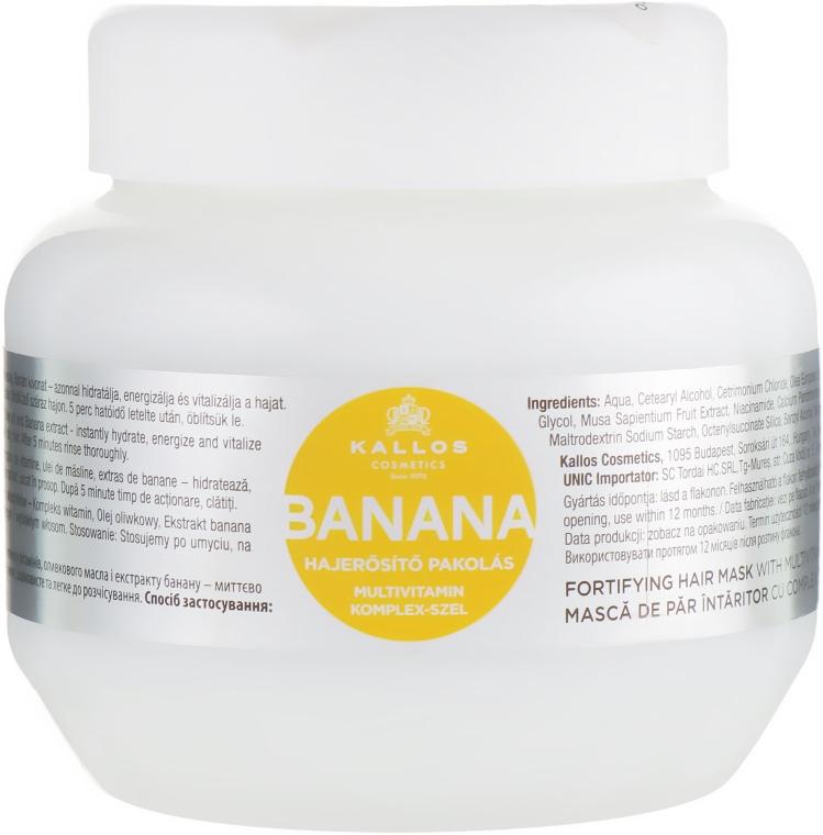 Маска для укрепления волос с экстрактом банана - Kallos Cosmetics Banana Mask