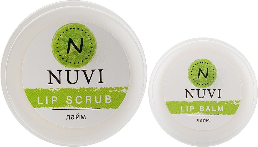 "Подарочный набор для губ ""Лайм"" - Nuvi (lip/balm/10g + lip/scrub/20g)"