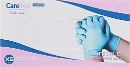 Духи, Парфюмерия, косметика Перчатки нитриловые, неопудренные, голубые, размер XS - Avenir Cosmetics