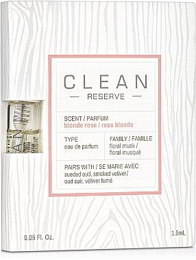Clean Reserve Blonde Rose - Парфюмированная вода (пробник)