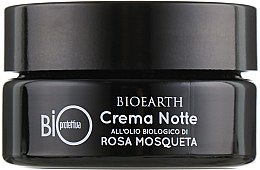 Ночной био-крем на основе масла роза москета - Bioearth Bioprotettiva Crema Notte — фото N2