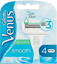 Духи, Парфюмерия, косметика Сменные кассеты для бритья, 4 шт. - Gillette Venus Smooth Sensitive