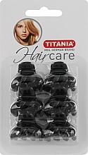 Парфумерія, косметика Зажим для волосся пластмасовий, маленький, 6 шт., 3 см, чорні - Titania