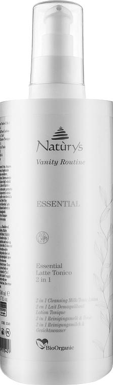 Молочко очищающее тонизирующее 2 в 1 - Bema Cosmetici Naturys Vanity 2 in 1 Cleansing Milk/Tonic Lotion-Moisturizing