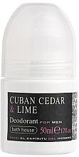 Духи, Парфюмерия, косметика Bath House Cuban Cedar & Lime - Роликовый дезордорант