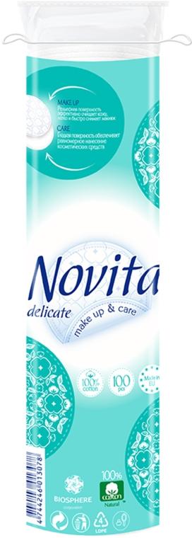 Диски ватные косметические, 100шт - Novita Delicate