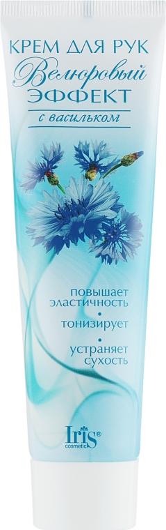 """Крем для рук """"Велюровый эффект"""" с васильком - Iris Cosmetic"""