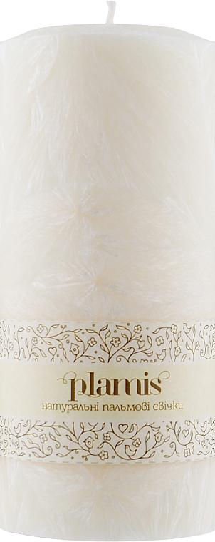 Декоративная пальмовая свеча, белая - Plamis