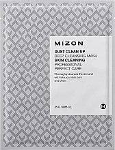 Духи, Парфюмерия, косметика Тканевая маска для лица очищающая - Mizon Dust Clean Up Deep Cleansing Mask