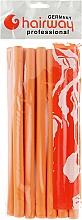 Парфумерія, косметика Гнучкі бігуді довжина 250мм d17, помаранчеві - Hairway Flex-Curler Flex Roller 25cm Orange