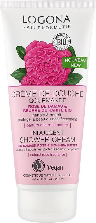 Увлажняющий крем для душа - Logona Bio Damaszener Rose Cream