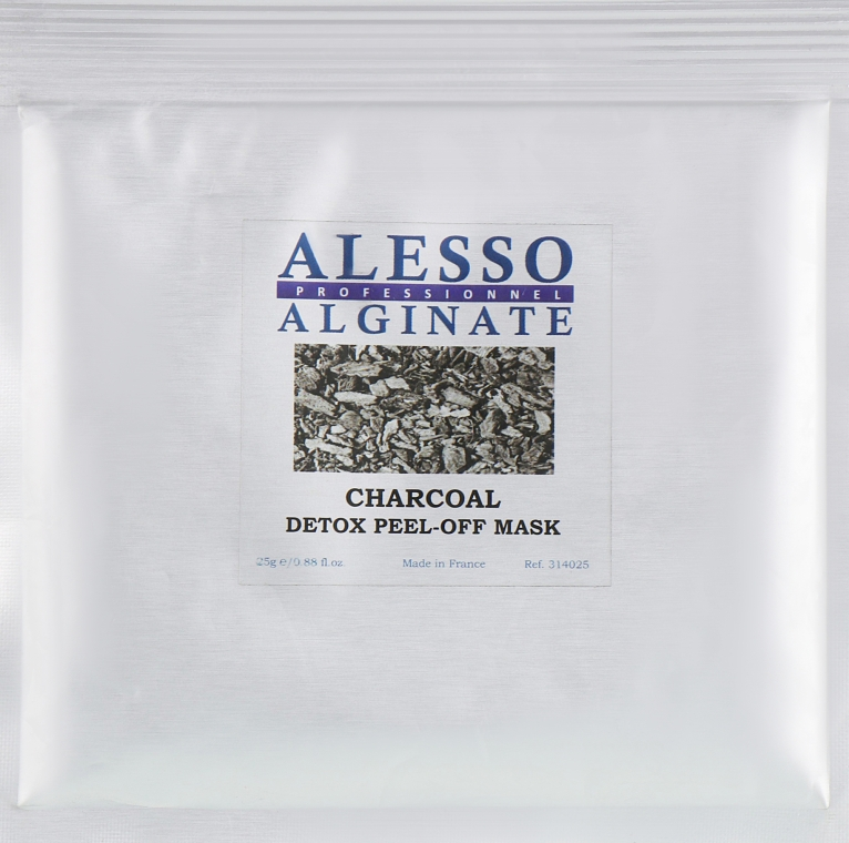 Маска для лица очищающая для стрессовой кожи - Alesso Professionnel Charcoal Detox Peel-Off Mask