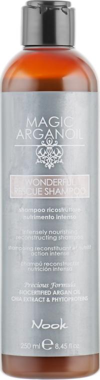 Реконструирующий экстрапитательный шампунь - Nook Magic Arganoil Wonderful Rescue Shampoo