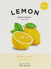 Духи, Парфюмерия, косметика Тонизирующая тканевая маска с лимоном - It's Skin The Fresh Mask Sheet Lemon