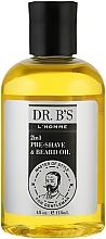 Духи, Парфюмерия, косметика Масло для бритья и бороды 2в1 - Dr. B's L'Homme Pre-Shave & Beard Oil