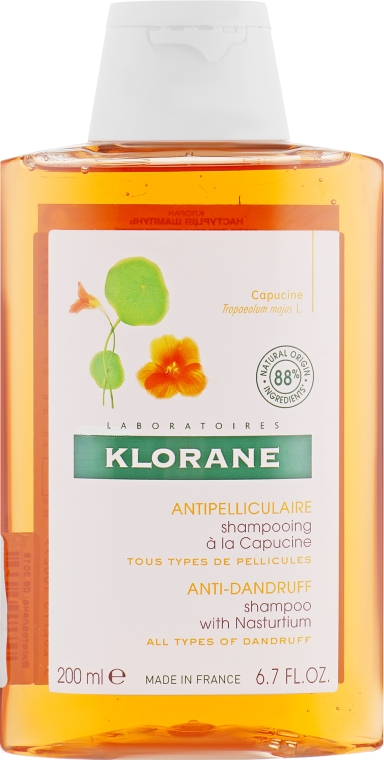Шампунь от сухой перхоти с экстрактом настурции - Klorane Shampoo With Nasturtium Extract