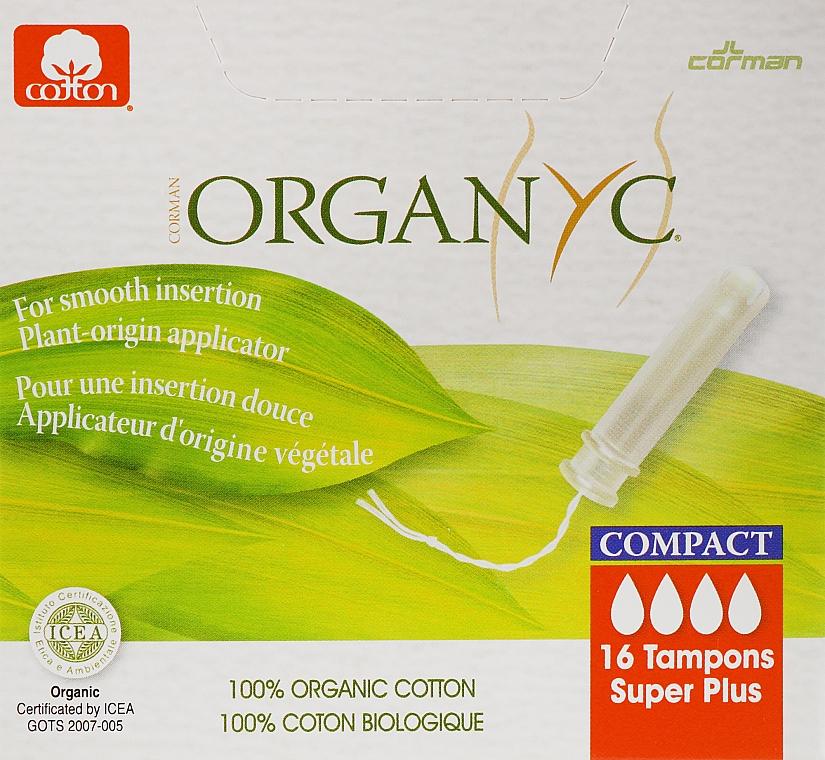 Тампоны компактные из органического хлопка, с аппликатором, 16 шт - Corman Cotton Organyc Compact Super Plus