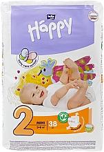 "Духи, Парфюмерия, косметика Детские подгузники ""Happy"" Mini 2, 38 шт - Bella Baby"