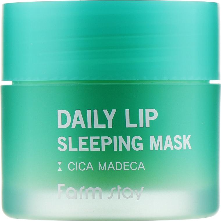 Ночная маска для губ с центеллой - FarmStay Daily Lip Sleeping Mask Cica Madeca
