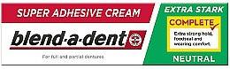 Духи, Парфюмерия, косметика Крем для фиксации зубных протезов - Blend-A-Dent Super Adhesive Cream Neutral Complete