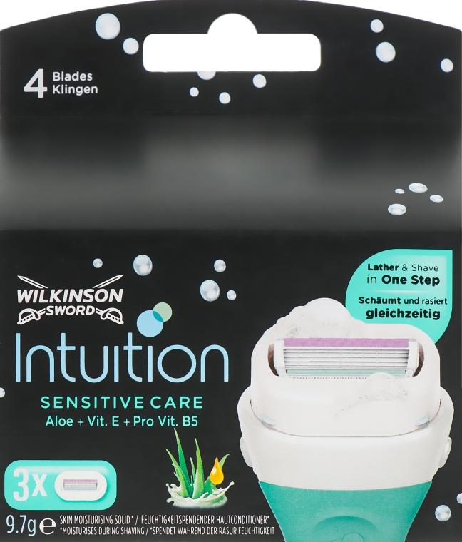 Сменные кассеты для бритья, 3шт. - Wilkinson Sword Intuition Sensitive