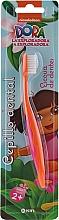 """Духи, Парфюмерия, косметика Детская зубная щетка """"Даша путешественница"""", оранжевая - Kin Kid's Dora The Explorer Toothbrush"""