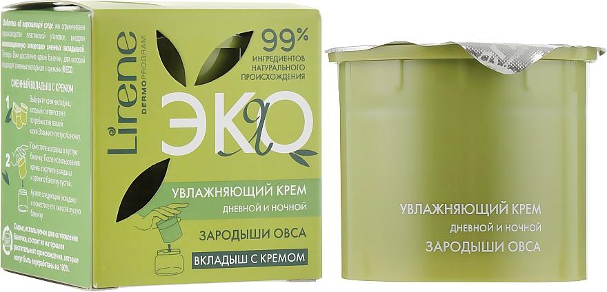 """Увлажняющий крем """"Зародыши овса"""" день/ночь (вкладыш с кремом) - Lirene Eco Moisturizing Day And Night Cream"""