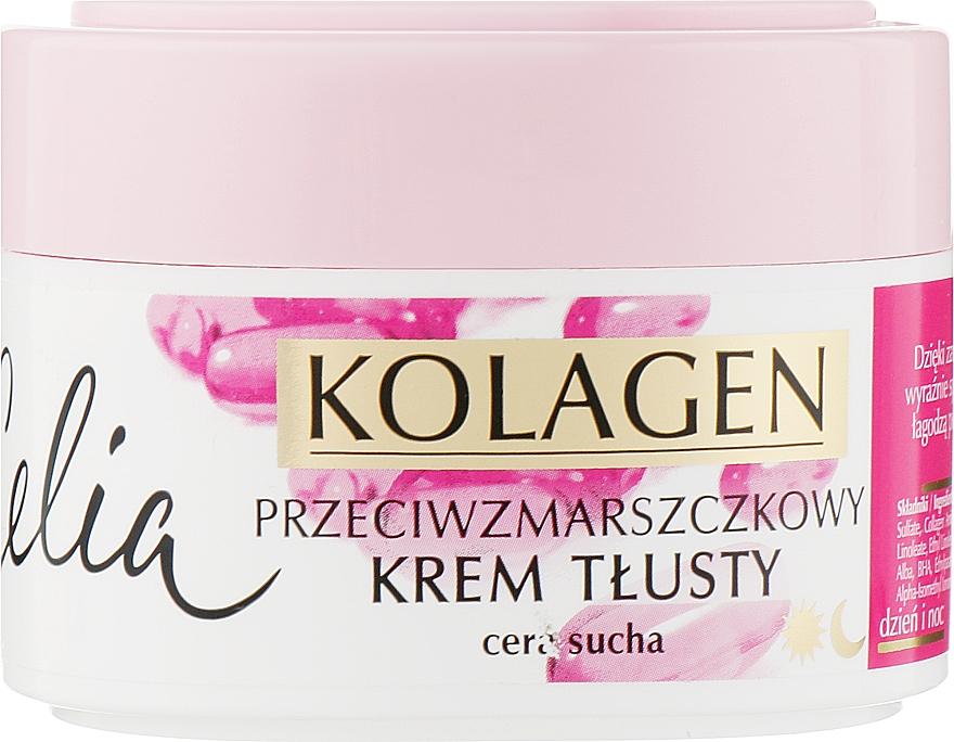 Крем насыщенный от морщин для сухой кожи лица - Celia Collagen Cream