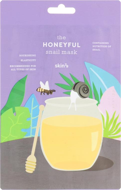 Питательная маска для лица с муцином улитки и медом - Skin79 The Honeyful Snail Mask