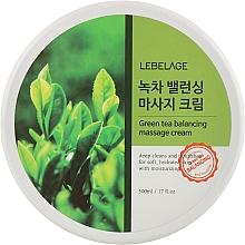 Духи, Парфюмерия, косметика Массажный крем с зеленым чаем - Lebelage Green Tea Moisture Cleaning Massage Cream
