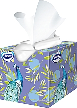 Салфетки косметические с ароматом, трехслойные, павлин, 60шт - Zewa Deluxe Box Aroma Collection — фото N2