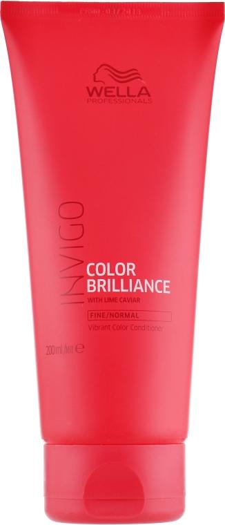Кондиционер для окрашенных, нормальных и тонких волос с икрой лайма - Wella Professionals Invigo Color Brilliance Vibrant Color Conditioner