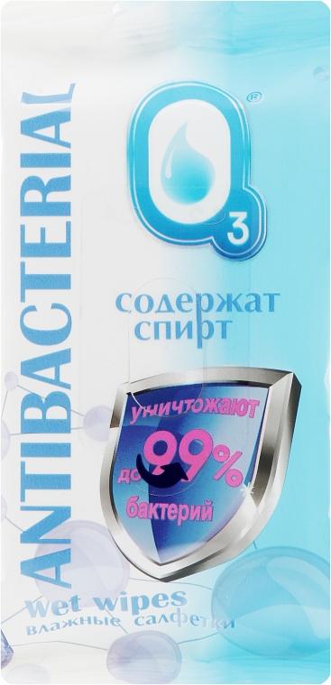 Антибактериальные влажные салфетки со спиртом, 15 шт - О3